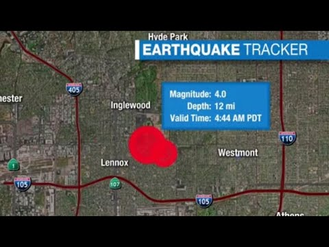 Pair of earthquakes strike South Los Angeles