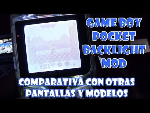 Game Boy Pocket Back Light Unit Mod - Comparativa de pantallas