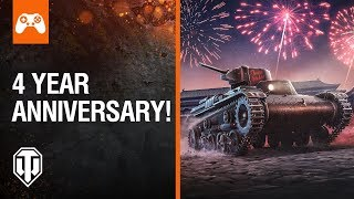 World of Tanks on consoles celebrates Fourth Anniversary with tank giveaway