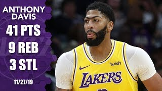 Anthony Davis returns to New Orleans as a Laker, drops 41 vs. Pelicans | 2019-20 NBA Highlights