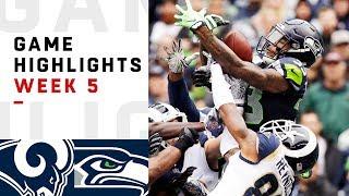 Rams vs. Seahawks Week 5 Highlights | NFL 2018