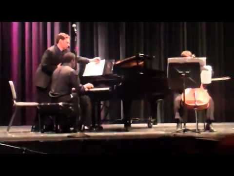 Performing a student composed piece at Cosumnes River College