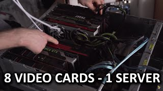 $4,000 Server Chassis Holds 8 DUAL SLOT VIDEO CARDS! - HOLY $H!T