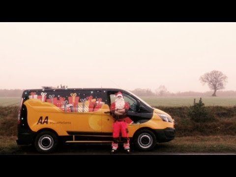 Santa's on patrol with the AA this Christmas. Because anything can happen