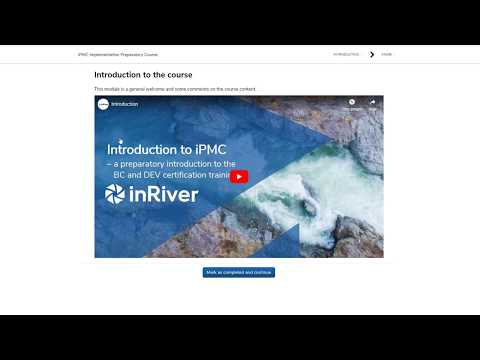 inRiver Academy UI Tutorial - How to sign up for and access course content