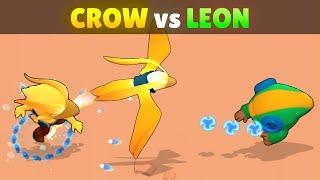 CROW vs LEON   21 Tests   Best LEGENDARY in Brawl Stars!