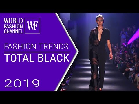 TOTAL BLACK LOOK | FASHION TRENDS SPRING-SUMMER 2019