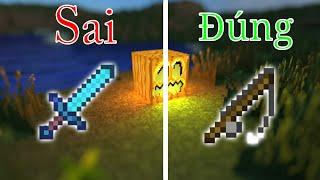 5 Điều Mà Các Bạn THƯỜNG XUYÊN Làm Sai Trong Minecraft - Giết Shulker Sai Cách !!!