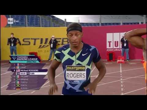 Diamond League Rome 2020 100m Men's  Filippo tortu - Marcell Lamont Jacobs