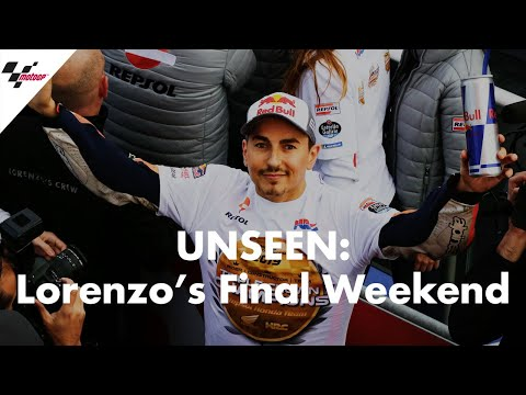 The unseen footage from Lorenzo's final weekend