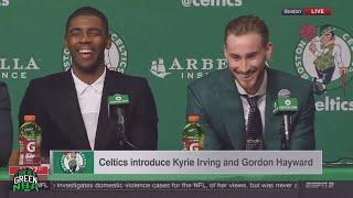 Boston Celtics - Kyrie Irving & Gordon Hayward Press Conference FUNNY MOMENTS!