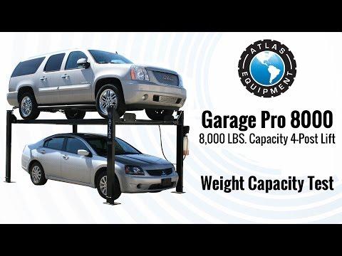 Atlas® Garage Pro 8000 Weight Capacity Test