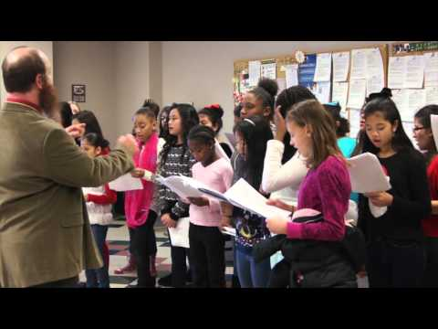 Trusty Elementary Carolers Visit ArcBest Headquarters