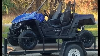 First ride in the Yamaha Wolverine and its a rough one!