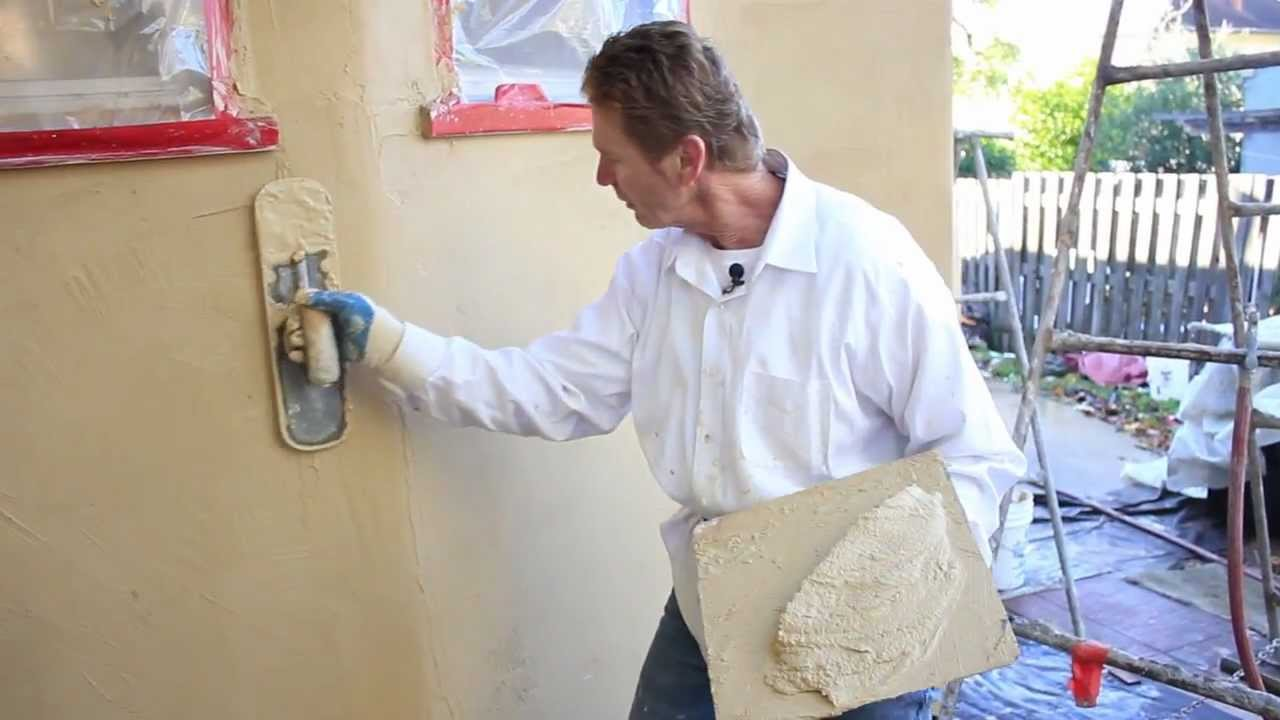 Santa Barbara Smooth Mission Stucco Finish Sbmf Youtube
