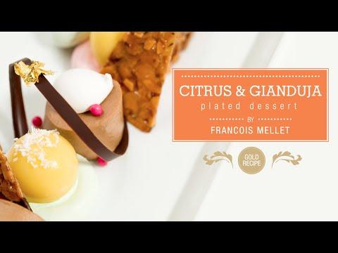 Citrus & Gianduja Plated Dessert - Qzina