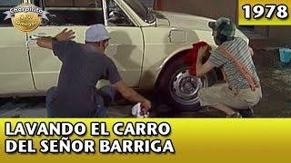 El Chavo | Lavando el carro del Sr. Barriga (Completo)