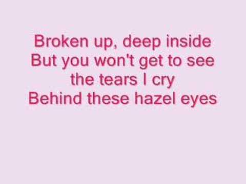 Kelly Clarkson- Behind These Hazel Eyes (lyrics)
