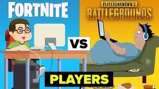 PUBG Players vs Fortnite Players