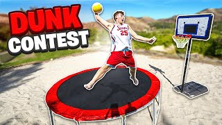 GREATEST Sand Trampoline Dunk Contest Of All Time!