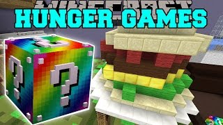 Minecraft: BIGGEST SANDWICH EVER HUNGER GAMES - Lucky Block Mod - Modded Mini-Game