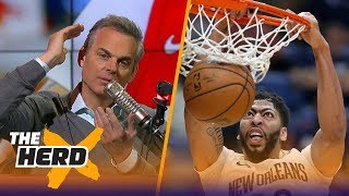 Colin Cowherd: Anthony Davis should not be considered a MVP candidate | THE HERD