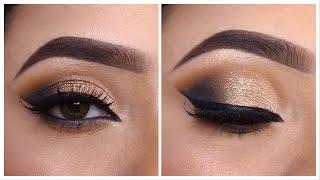 Smokey glitter eye makeup Tutorial || Step by step easy party/ Festival eye makeup || Shilpa