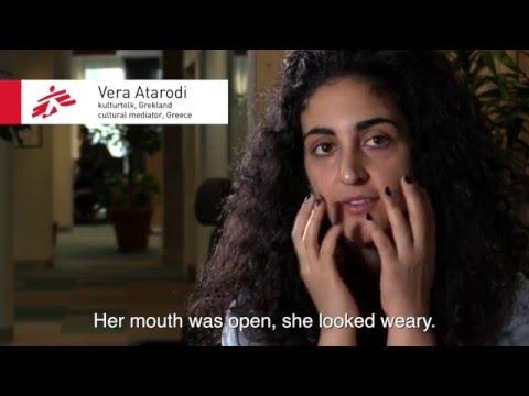"""""""Hennes ansikte såg ut som Screammasken"""" - kulturtolken Vera Atarodi om flyktingkrisen i Grekland"""