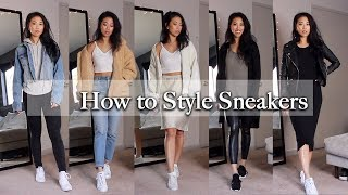 HOW TO STYLE SNEAKERS / NOT SO BASIC OUTFITS | CHRISTINE LE - YouTube