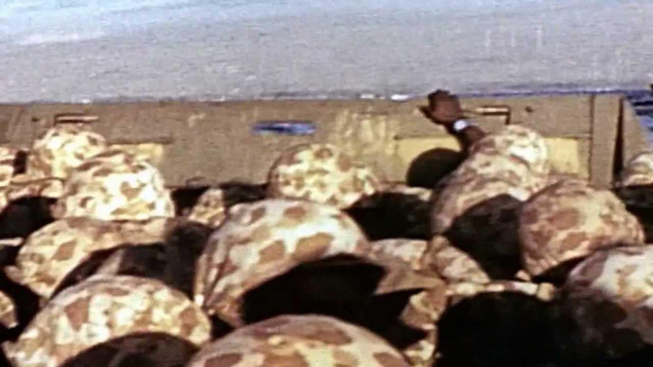 BLACK MARINES LANDING ON IWO JIMA 1945.mp4 - YouTube  Usmc