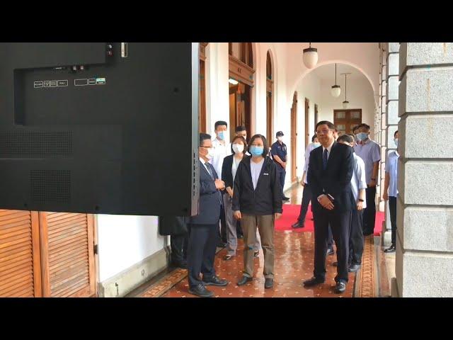 蔡再度前往悼念李前總統 觀看民眾留言