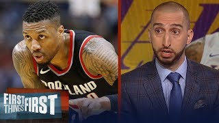 Nick Wright: Lakers should target Damian Lillard if they can't land Kawhi | NBA | FIRST THINGS FIRST