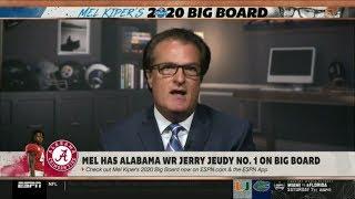 ESPN FIRST TAKE   Mel Kiper Jr. has Alabama WR Jerry Jeudy No. 1 on Big Board