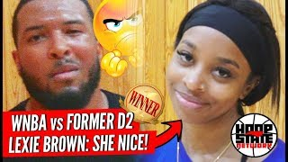 WNBA Girl vs DII Guy NO MERCY!! Can YOU Guard Lexie Brown?! 😱 [SHE NICE!] Episode 1 #HoopState