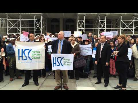 LiveOn NY's Igal Jellinek at HSC 5and5 COLA Rally