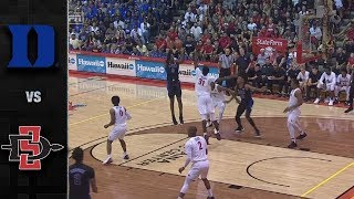 Duke vs. San Diego State Basketball Highlights (2018-19)