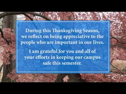 Fayetteville State University Thanksgiving Greeting