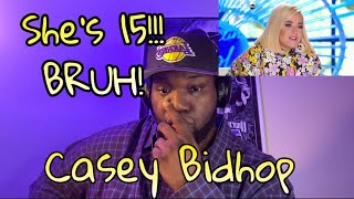 Casey Bishop | American Idol Audition | She sings Sarah Vaughan and Montley Crue | Reaction