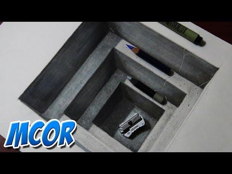 Como Dibujar En 3d Ilusion Optica Videomoviles Com