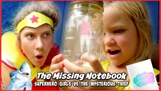 THE MYSTERIOUS THIEF (GHOST) AND SHARK CHASE! SuperHero Girls Search for THE MISSING NOTEBOOK SHK