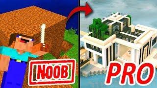 Khi NOOB Xây Nhà Hiện Đại Trong Minecraft