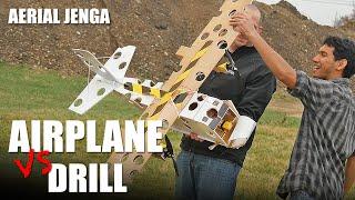 R/C AIRPLANE vs. DRILL - (Aerial Jenga) | Flite Test