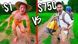 $1 VS $750 MOUNTAIN HIKE! *Budget Challenge*
