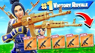 WINNING WITH ONLY USING  ONE GUN in Fortnite Battle Royale