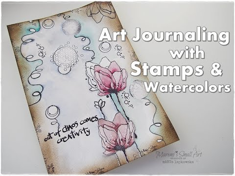 Art Journaling with Stamps & Watercolors ♡ Maremi's Small Art ♡