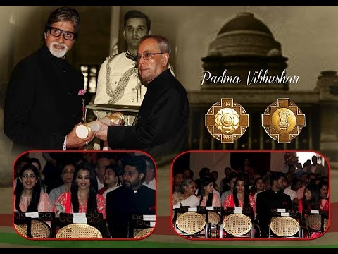 "Amitabh Bachchan conferred with ""Padam Vibhushan"""