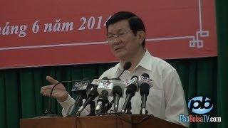 Chủ tịch NNVN Trương Tấn Sang nói về quan hệ VN-TQ trong tình hình hiện nay