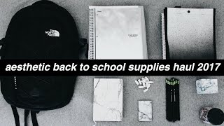 aesthetic back to school supplies haul 2017