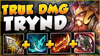RIOT?? 100% CRIT TRYND DEALS 35% TRUE DMG?? TRYNDAMERE SEASON 8 TOP GAMEPLAY! - League of Legends