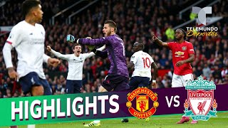 Manchester United vs. Liverpool: 1-1 Goals & Highlights | Premier League | Telemundo Deportes